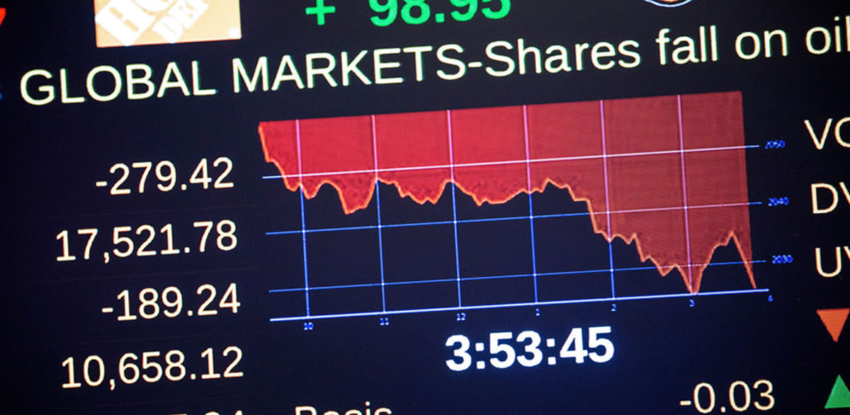 New Yorkin pörssin infotaulu.