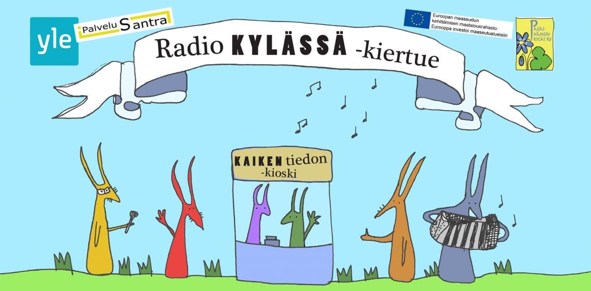 Radio Kylässä-kiertueen juliste