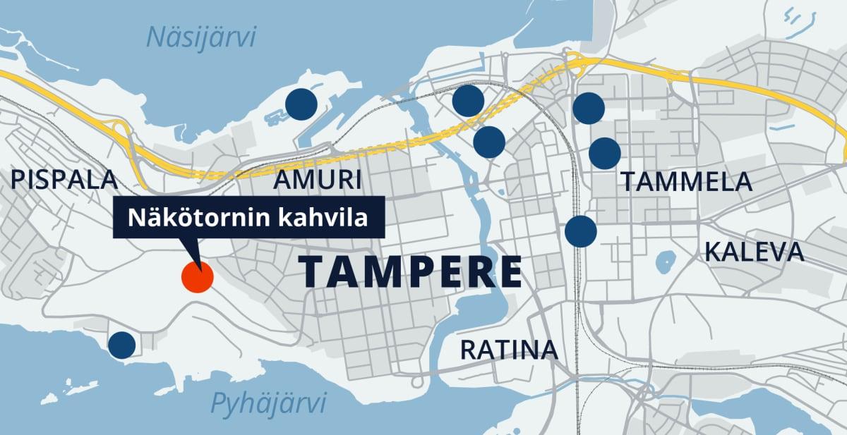 Tampereen kartta, Näkötornin kahvila