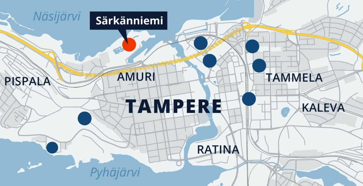 Tampereen kartta, Särkänniemi