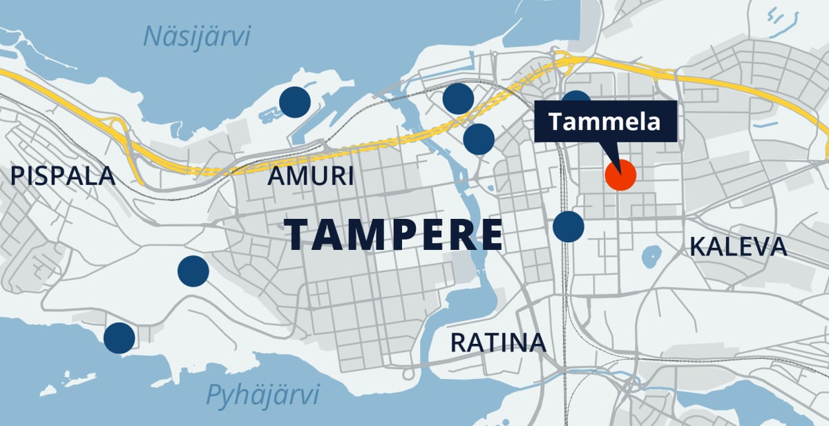 Tampereen kartta, Tammela