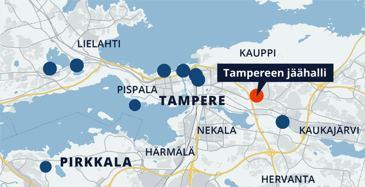 Tampereen kartta, Tampereen jäähalli