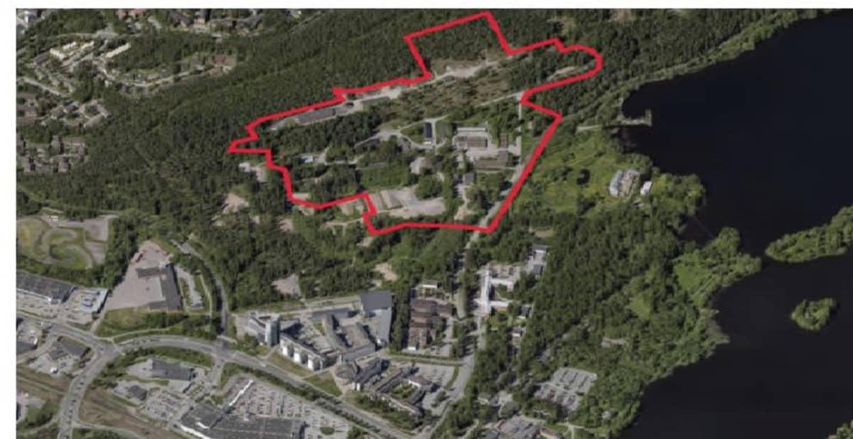 Karttakuva vanhan varikon alueesta Kuopion Savilahdessa.
