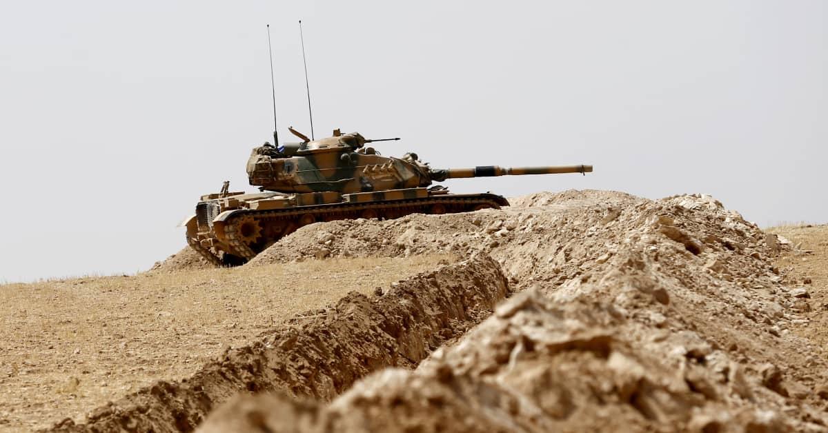 Turkkin joukkoja Syyrian rajalla syksyllä 2016.