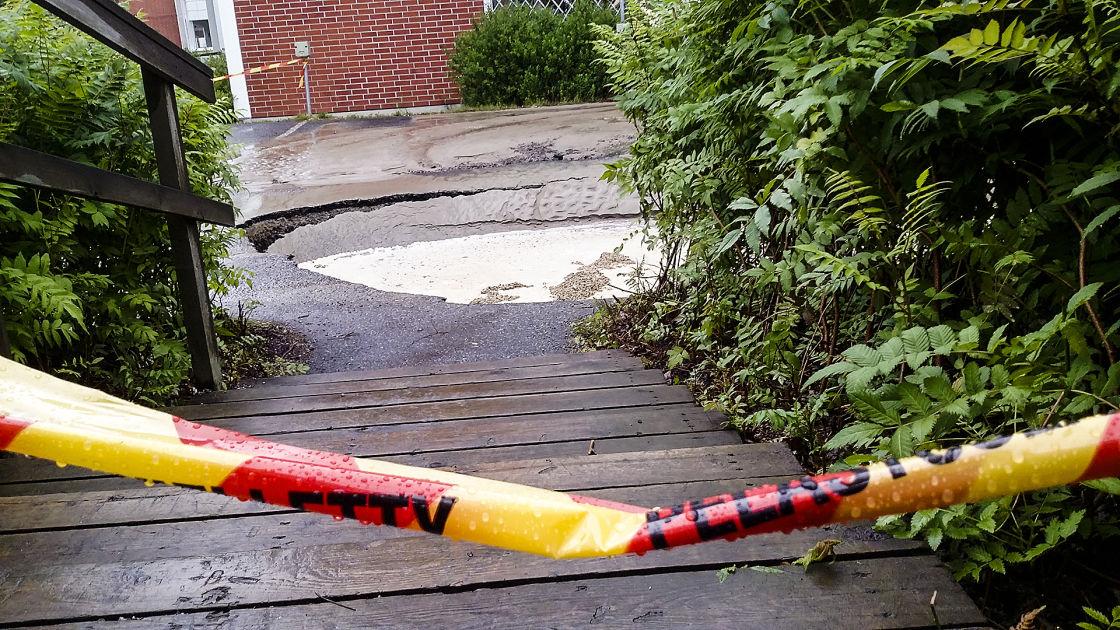 Katkennut runkovesiputki on aiheuttanut suuria vahinkoja Jyväskylässä