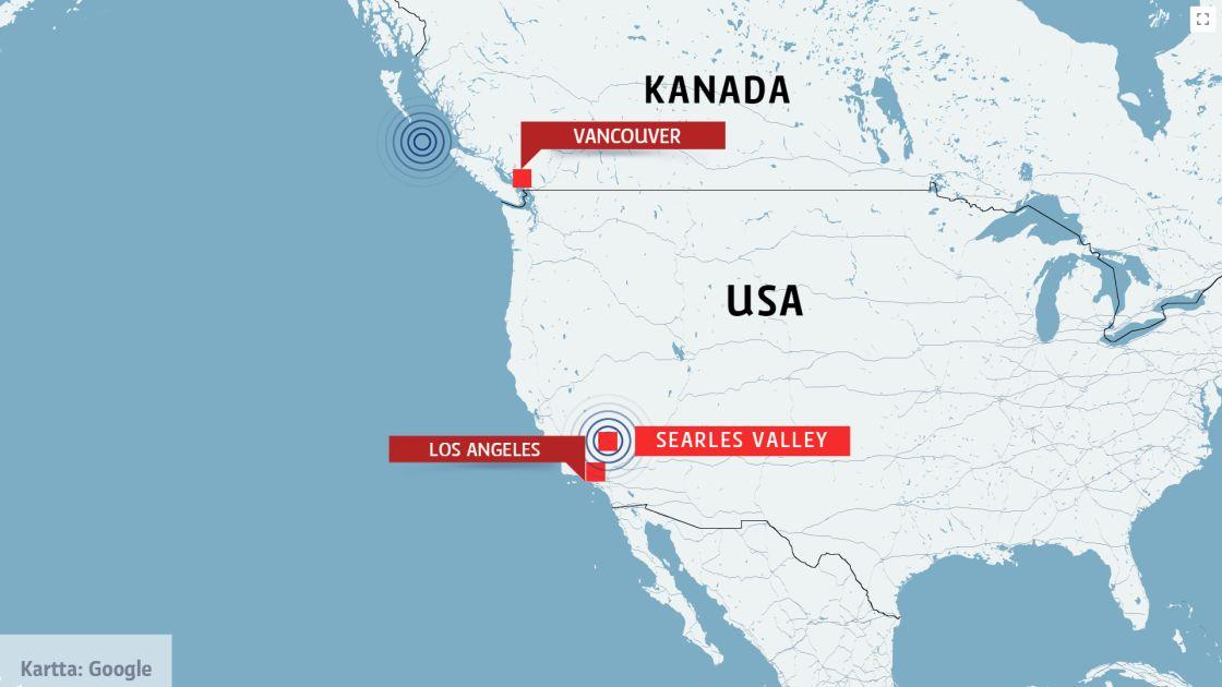 Maa Jarisi Etela Kaliforniassa Kuolonuhreista Ei Ole Raportoitu