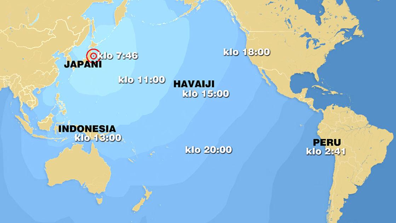 Tsunamiaalto Pyyhki Tyynellamerella Vahingot Vahaisia Yle