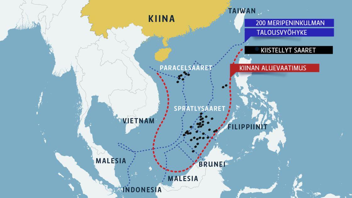 Kiinalaiskone Laskeutui Kiistellylle Saarelle Etela Kiinan Merella