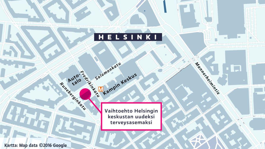 Helsingin Jattiterveysaseman Tie Takkuaa Alvar Aallon Sijaan