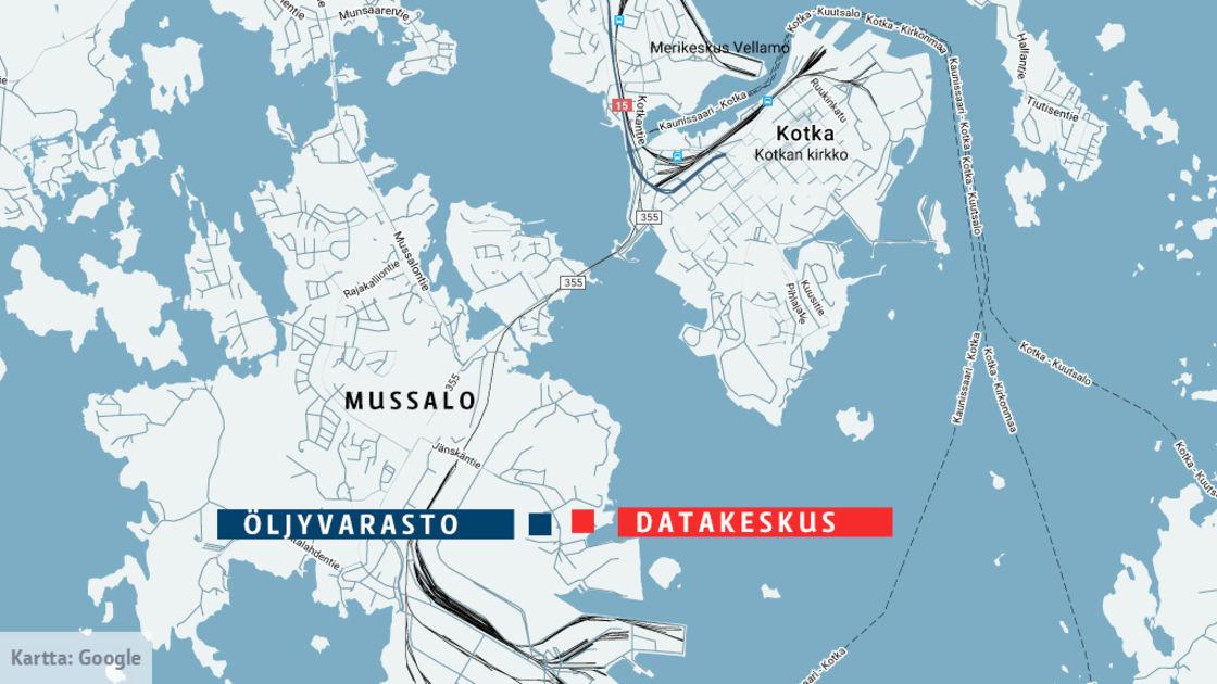 Datakeskushanke Etenee Kotkassa Kaupunki Hakee Rakennuslupaa