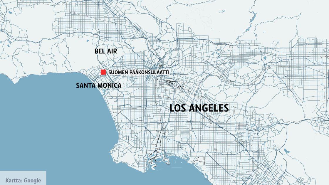 Tulipalo Uhkaa Los Angelesin Paakonsulin Virka Asuntoa