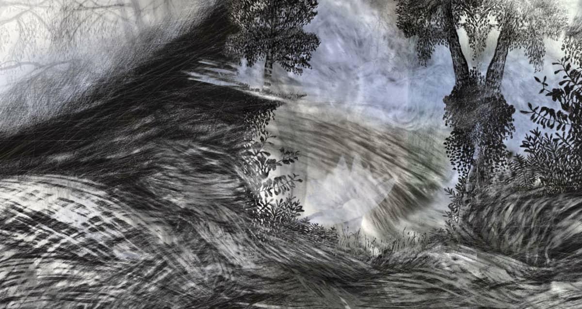 Ylä-Kainuun Tarinakartastossa on Sari Hiltusen kuvataideteoksia.