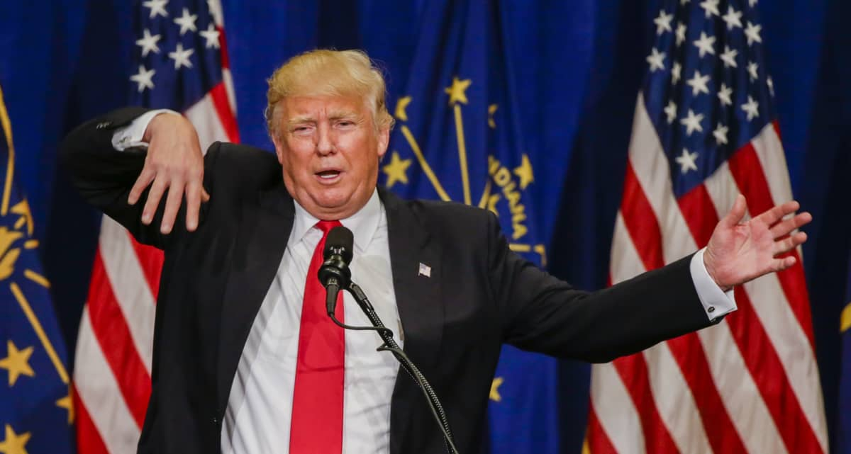 Businessman and Republican presidential candidate Donald Trump