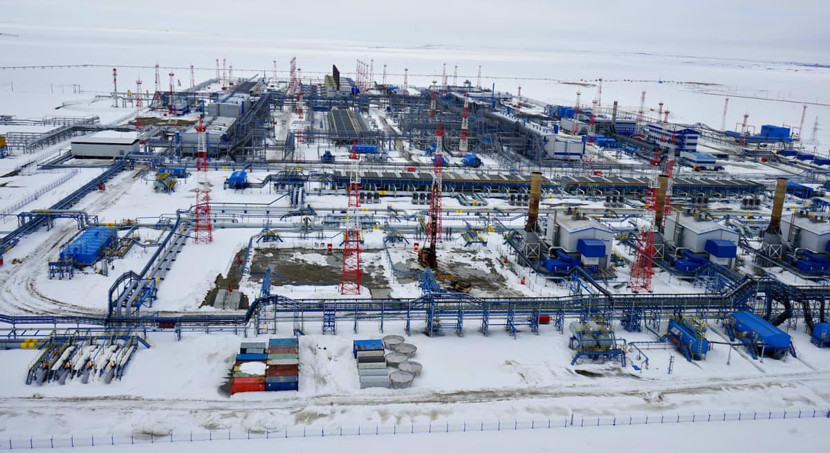 Gazprom laajensi viimeksi viime vuonna jättimäistä Bovanenkovon kaasukenttää.