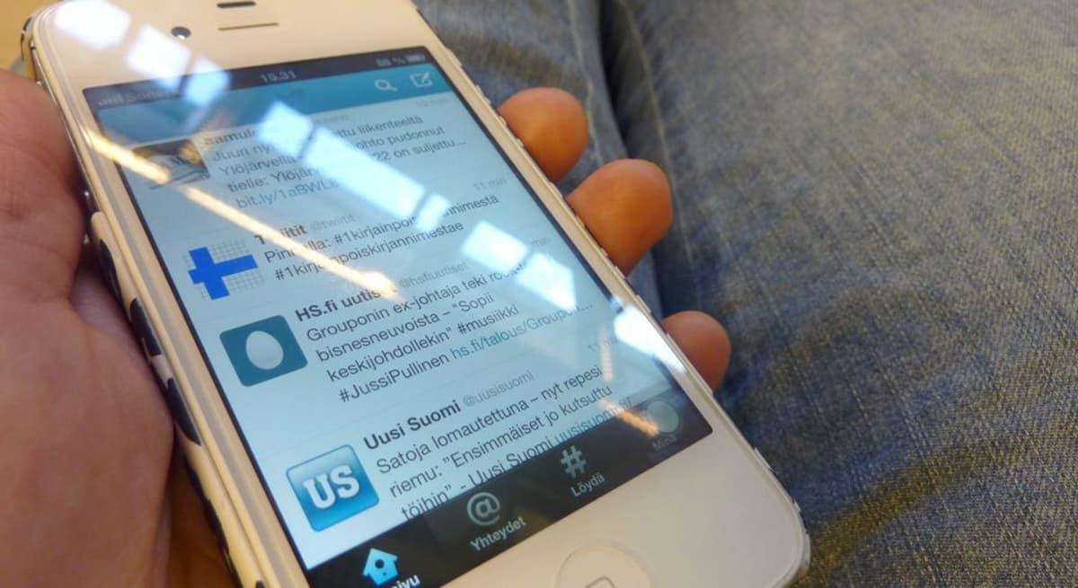 Twitter kännykässä.