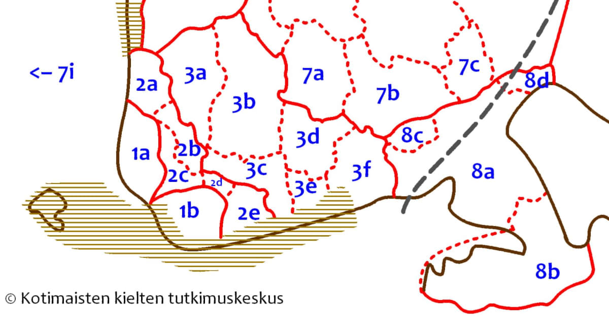 Murrekartta Etelä-Suomen osalta