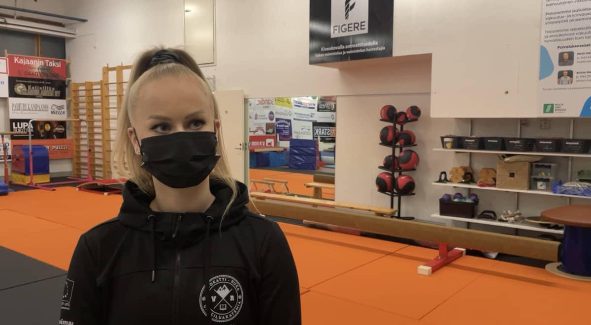 Aerobic valmentaja Kati säkkinen haastattelussa