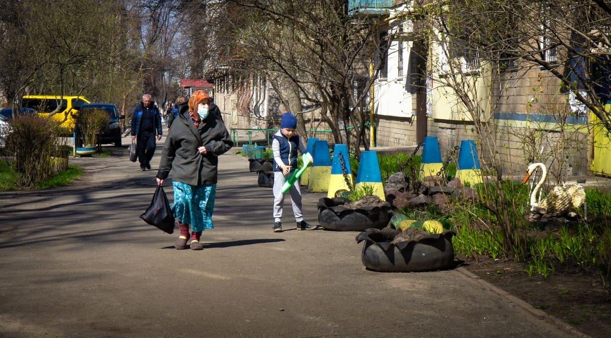 Sisäpiha Kiovassa
