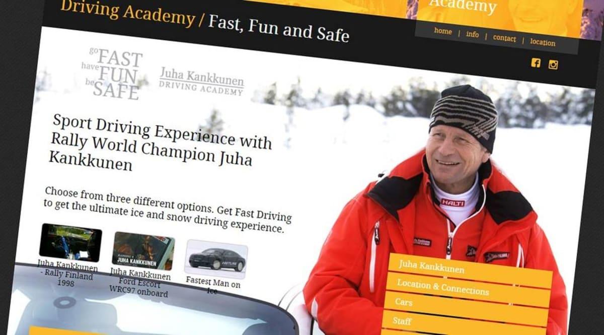 Juha Kankkusen nimeä käyttävä ja osittain omistama ajoharjoittelukoulu toimii Kuusamossa.