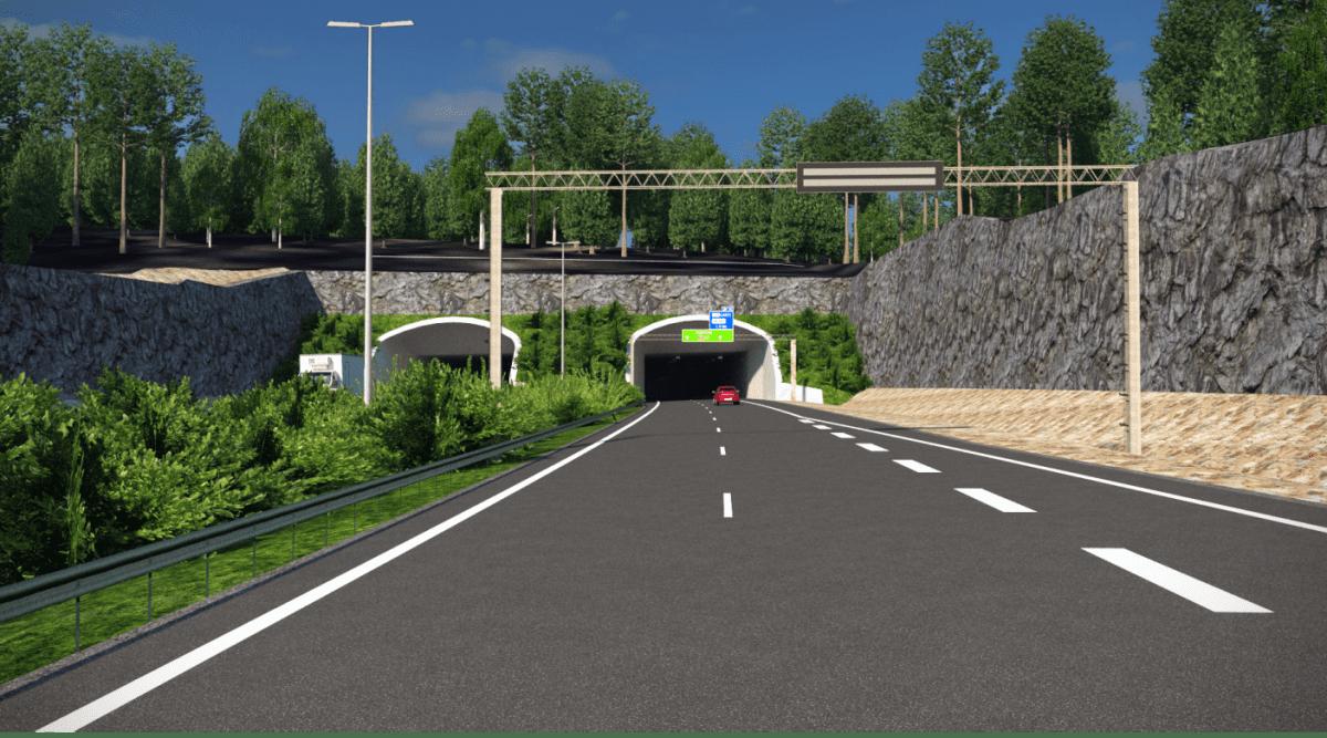 Havainnekuva Liipolan tunnelista