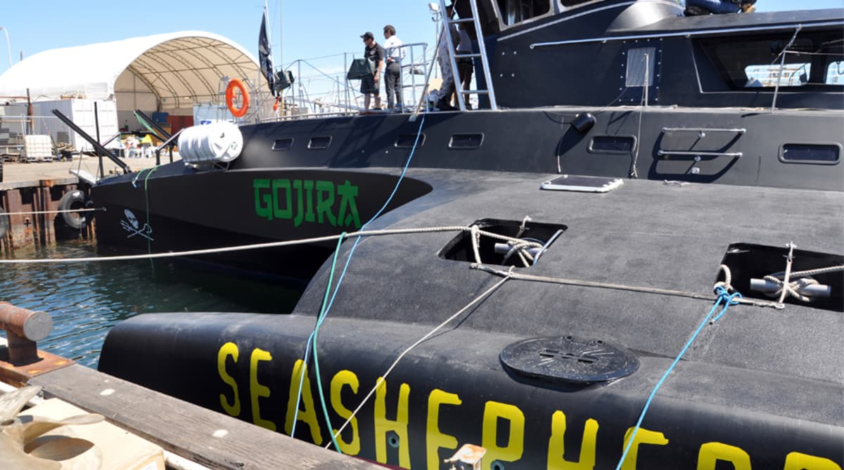 Sea Shepherd-järjestön alus.
