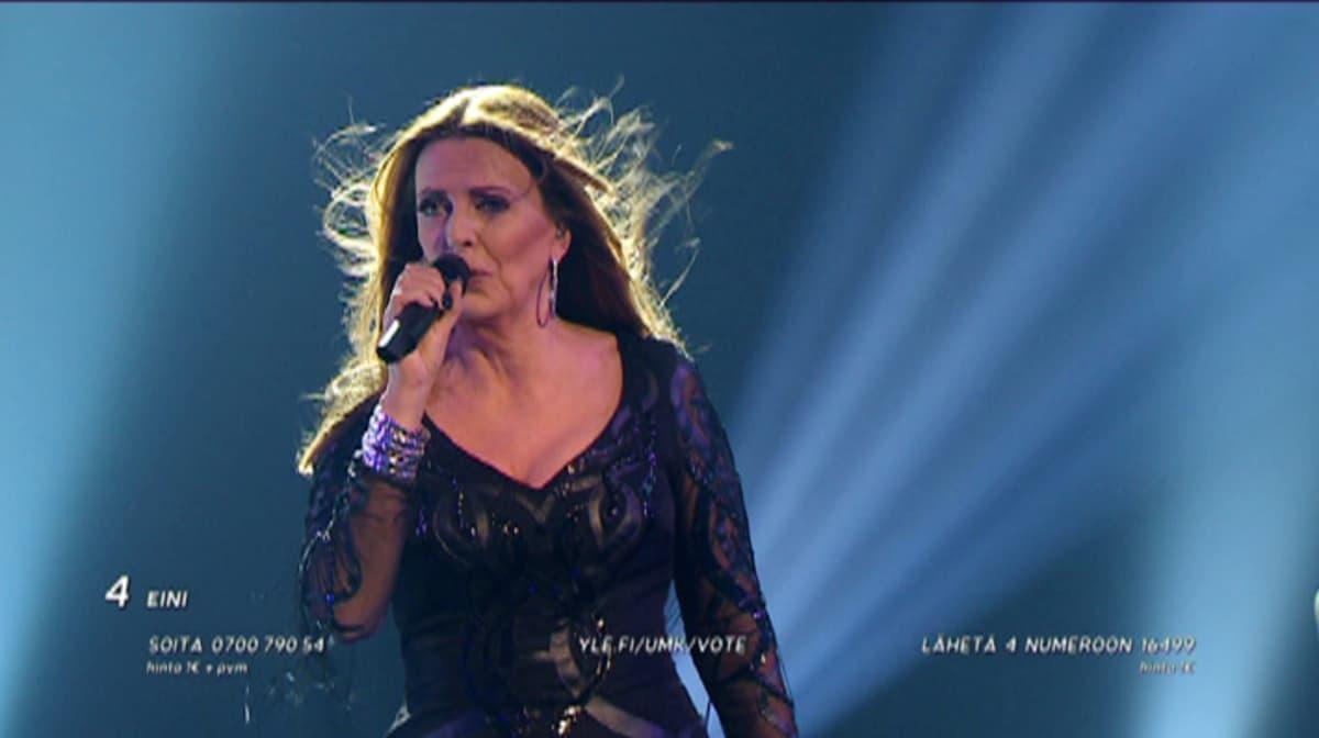 Eini esiintyi Uuden musiikin kilpailun karsinnassa 6. helmikuuta.