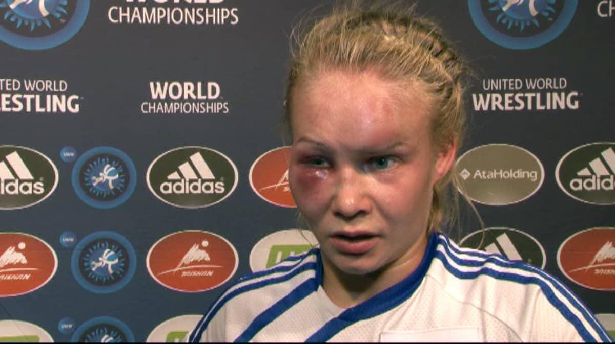Petra Olli Yle Urheilun haastattelussa.