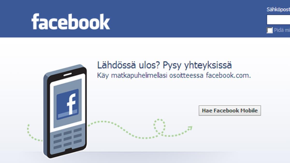 Facebookin nettisivut.