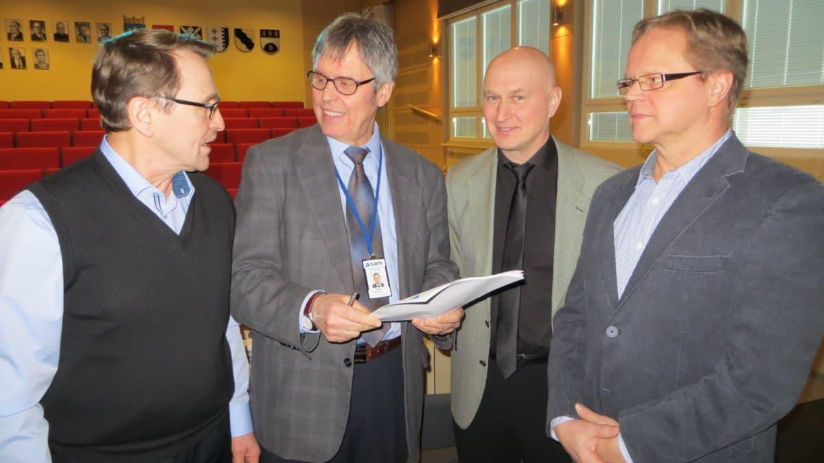 Terho Kaskinen, Keijo Pesonen, Tuomo Hynninen ja Juha Karvinen