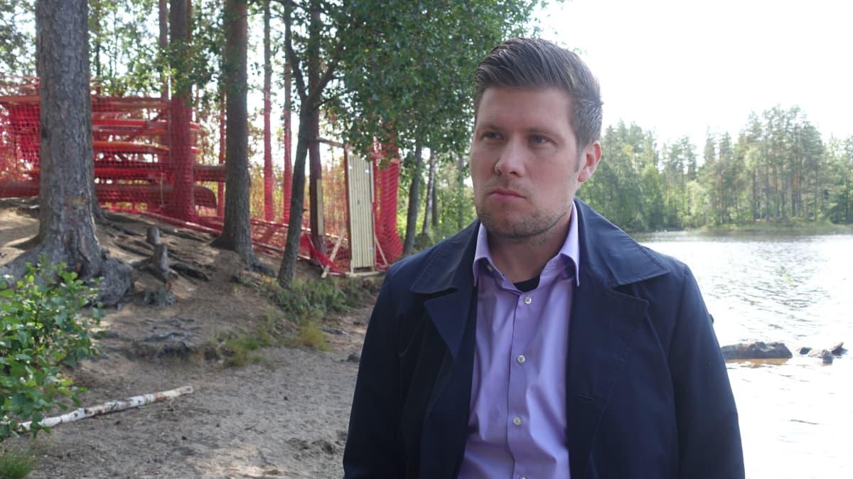 Pieksämäen kaupungin liikuntapalvelupäällikkö Antti Nousiainen.