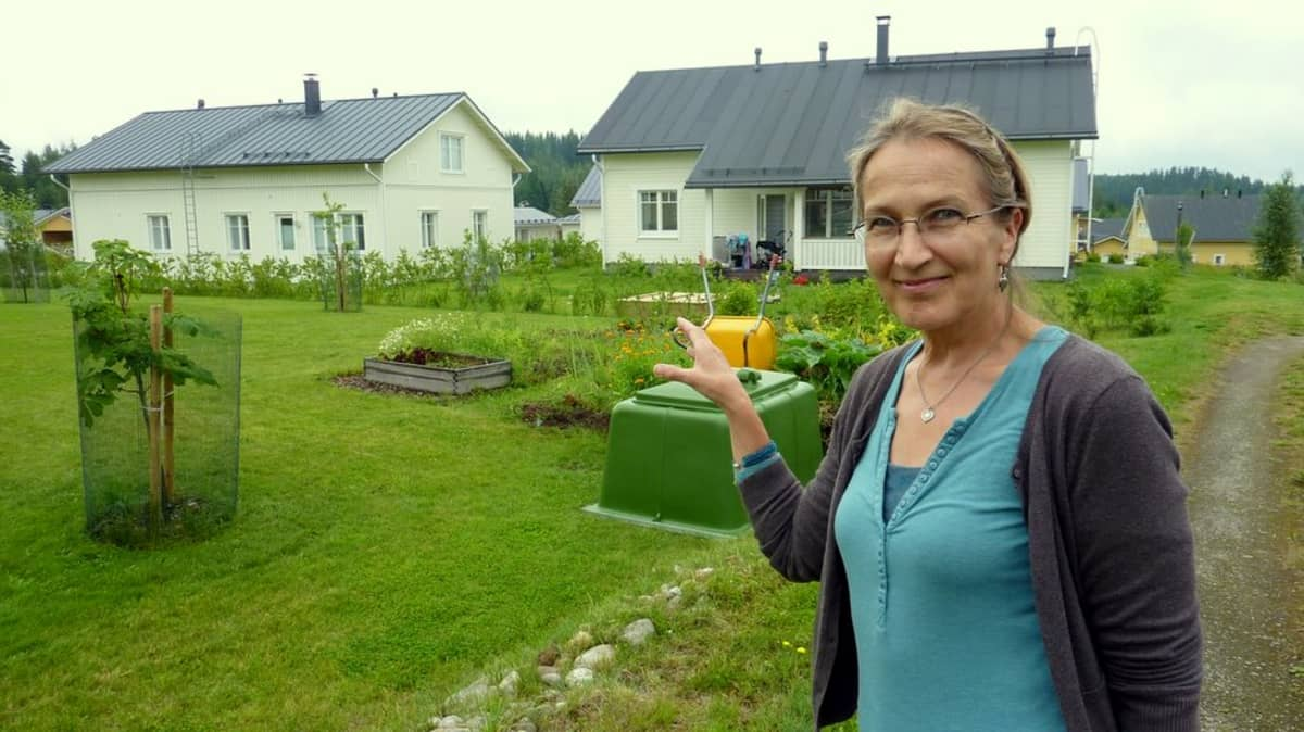 Museovirkailija Maire Partti esittelee Mikkelin Orijärven viikinkiaarteen löytöpaikkaa.