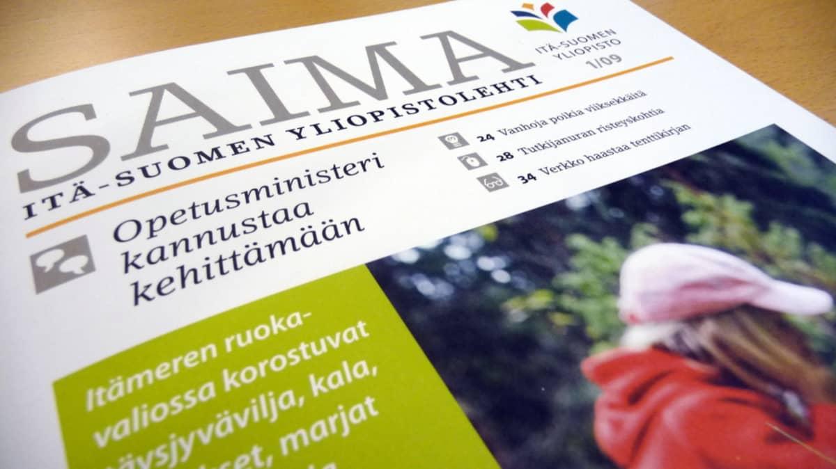 Itä-Suomen yliopistolehti Saiman kansi