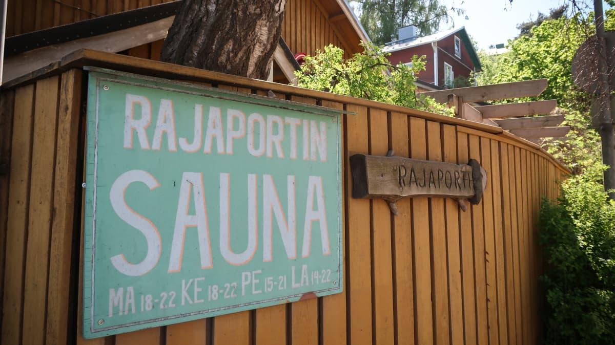 Rajaportin sauna, Tampere. Sauna. Yleinen sauna.