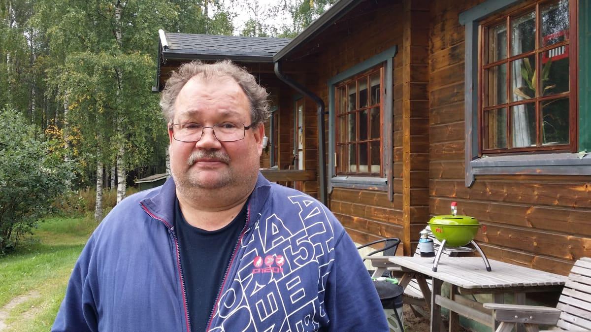Jorma Harmoisen taloudessa sähköt oli poikki 40 tuntia.