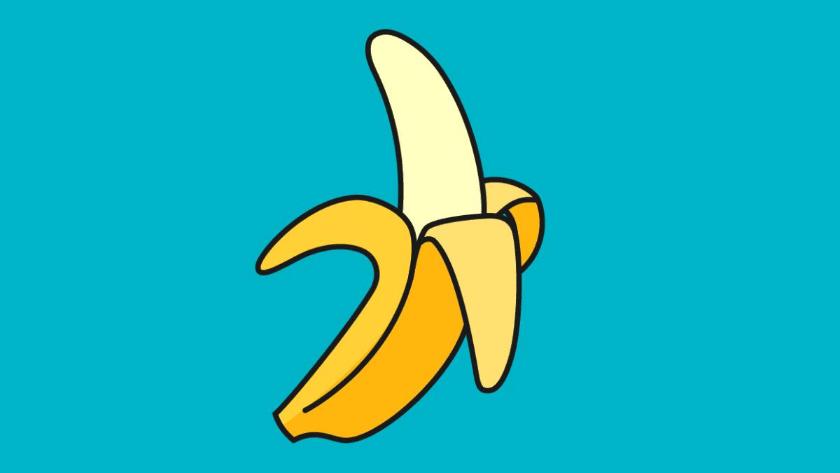 Kuvitus. Banaani