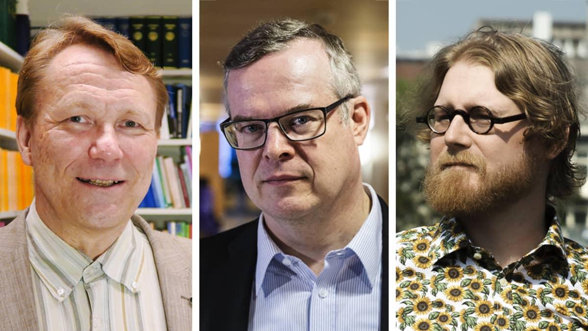 Kuvassa ovat Asko Uoti, Lasse Lehtonen ja Pauli Rautiainen.