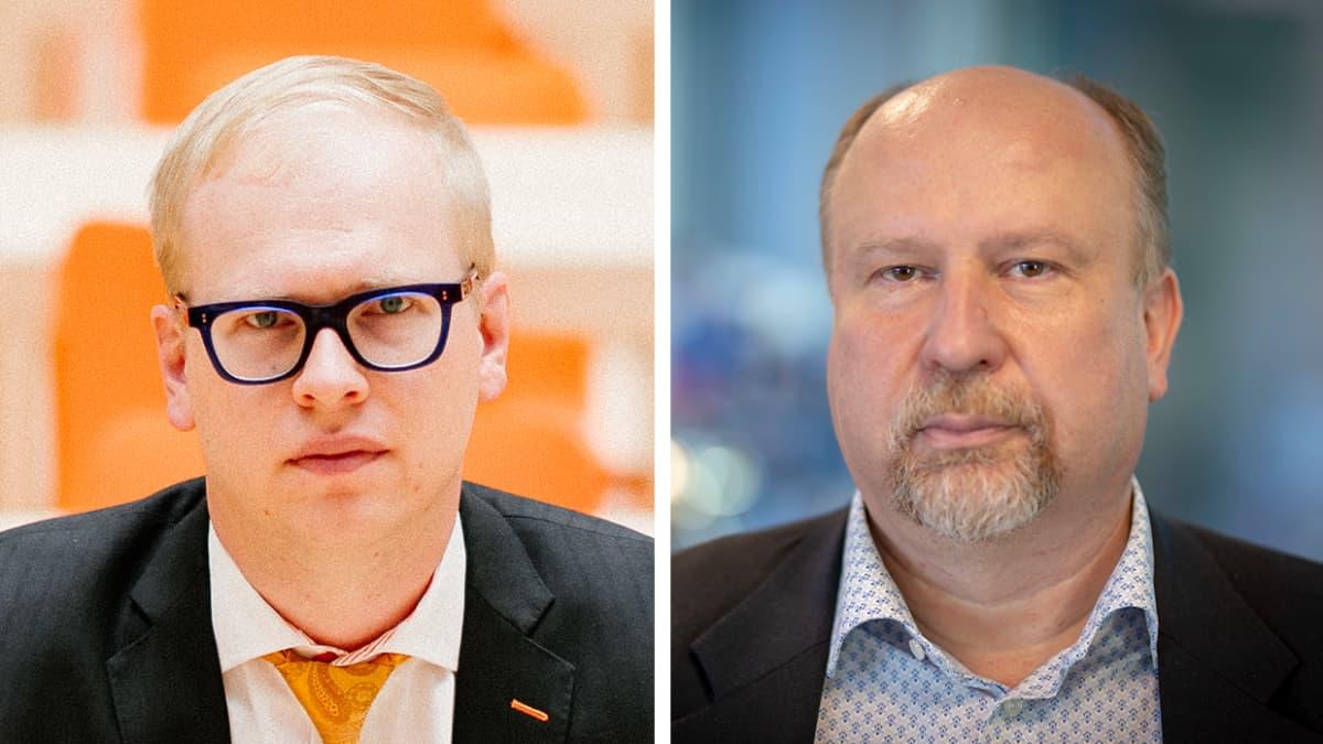 OP:n pääanalyytikko Antti Saari ja Danske Bankin ekonomisti Pasi Kuoppamäki.