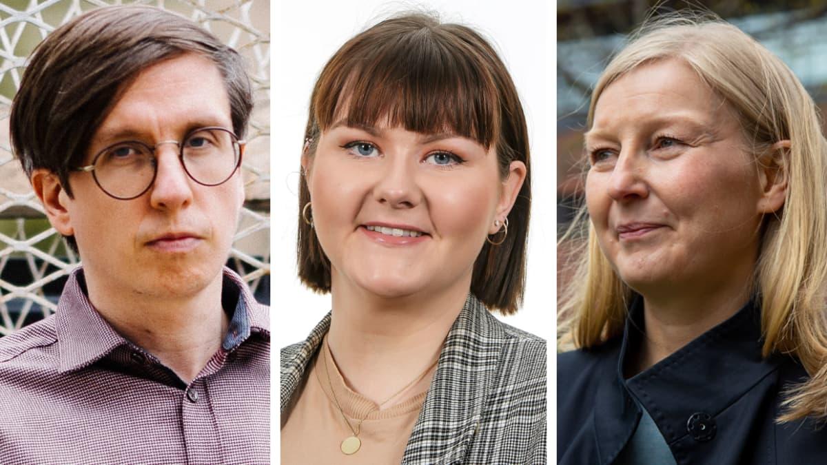 Markku Lehmus, ennustepäällikkö, Etla, Anni Marttinen, ekonomisti, SAK ja Marita Laukkanen, johtava tutkija, VATT