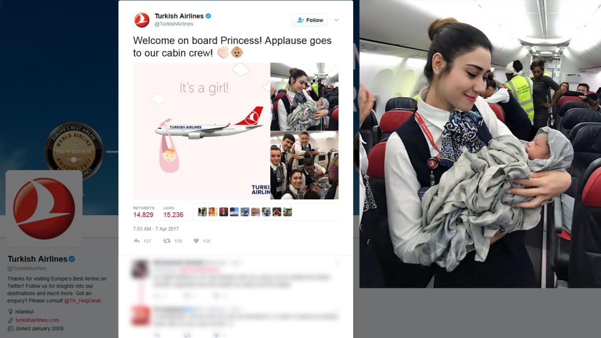 Lapsi syntyi lentokoneessa