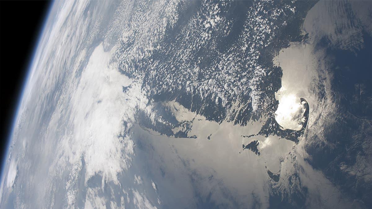 Yhdysvaltain itärannikko nähtynä Kansainväliseltä avaruusasemalta.
