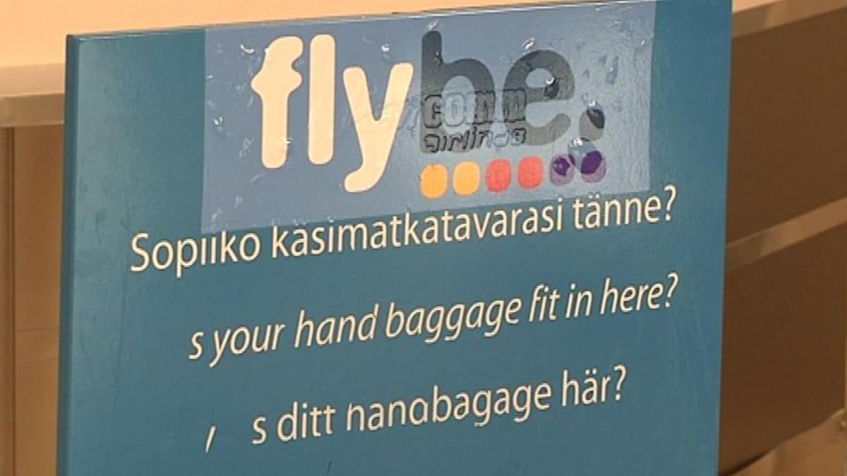 Flyben Käsimatkatavaralokero Kemi-Tornio lentoasemalla.
