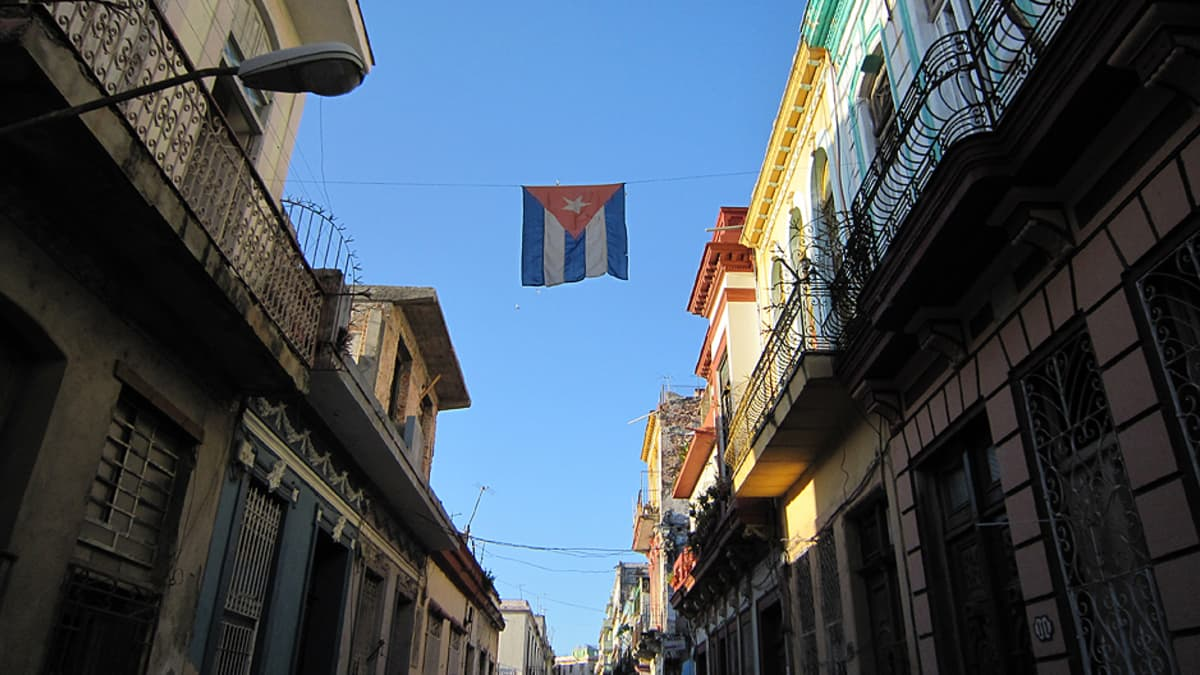 Katunäkymä Havannassa.