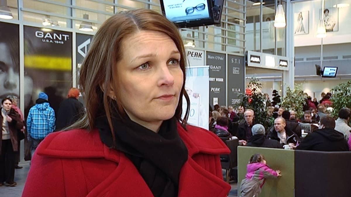 Pääministeri Mari Kiviniemi.