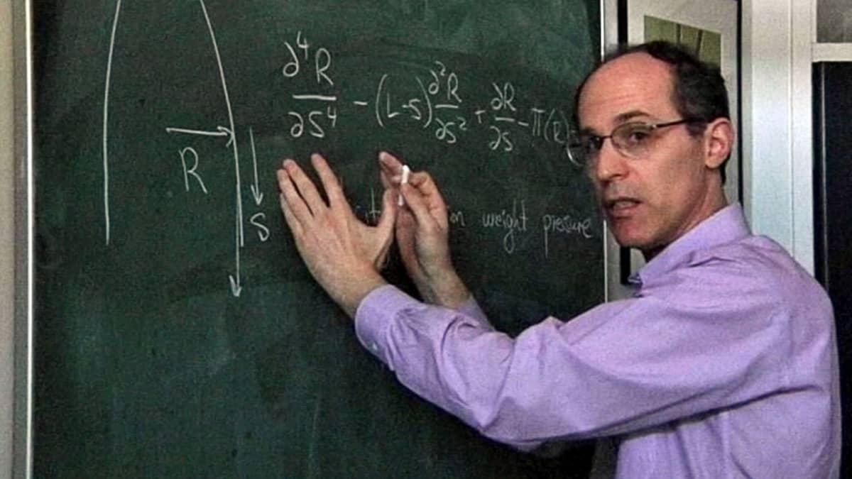 Professori Ray Goldstein esittelee työtoveriensa kanssa kehittelemäänsä poninhäntien matemaattista kaavaa.