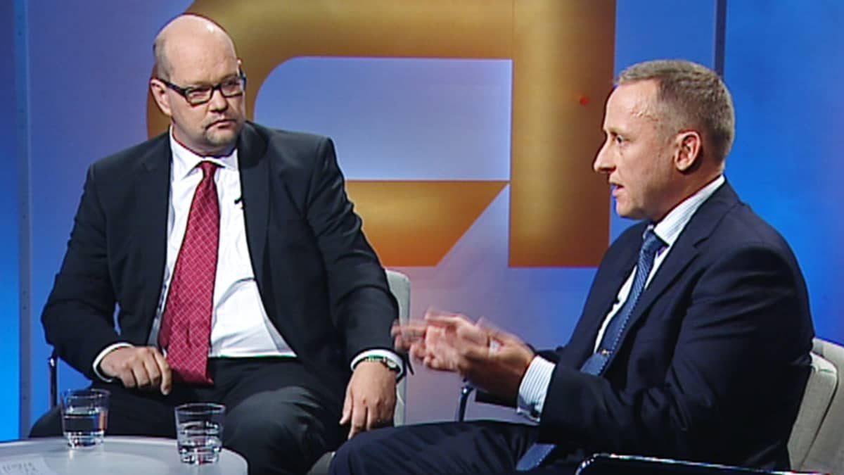 Jaakko Kiander (vas.) ja Stefan Törnqvist