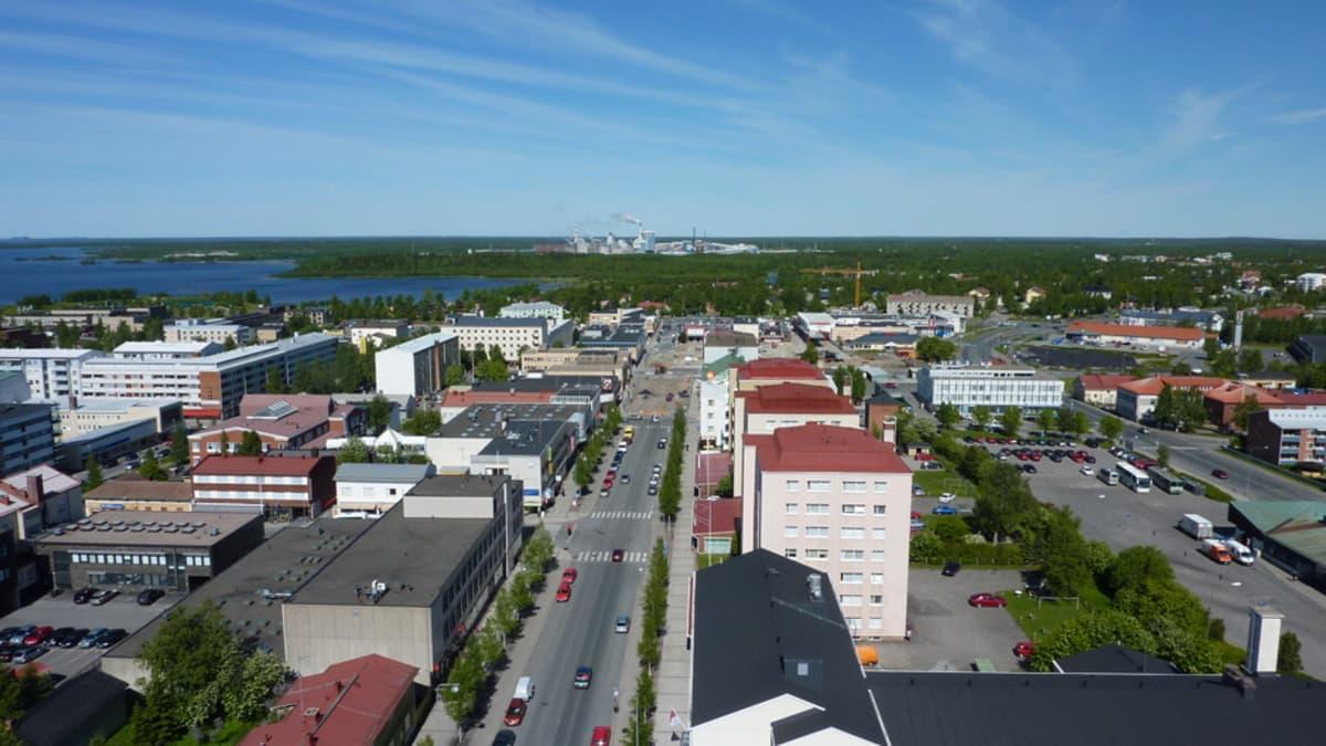 Kuvan vasemmassa laidassa sijaitsevaan Ruutinrantaan voi nousta jatkossa jopa seitsemän kerroksisia asuintaloja.