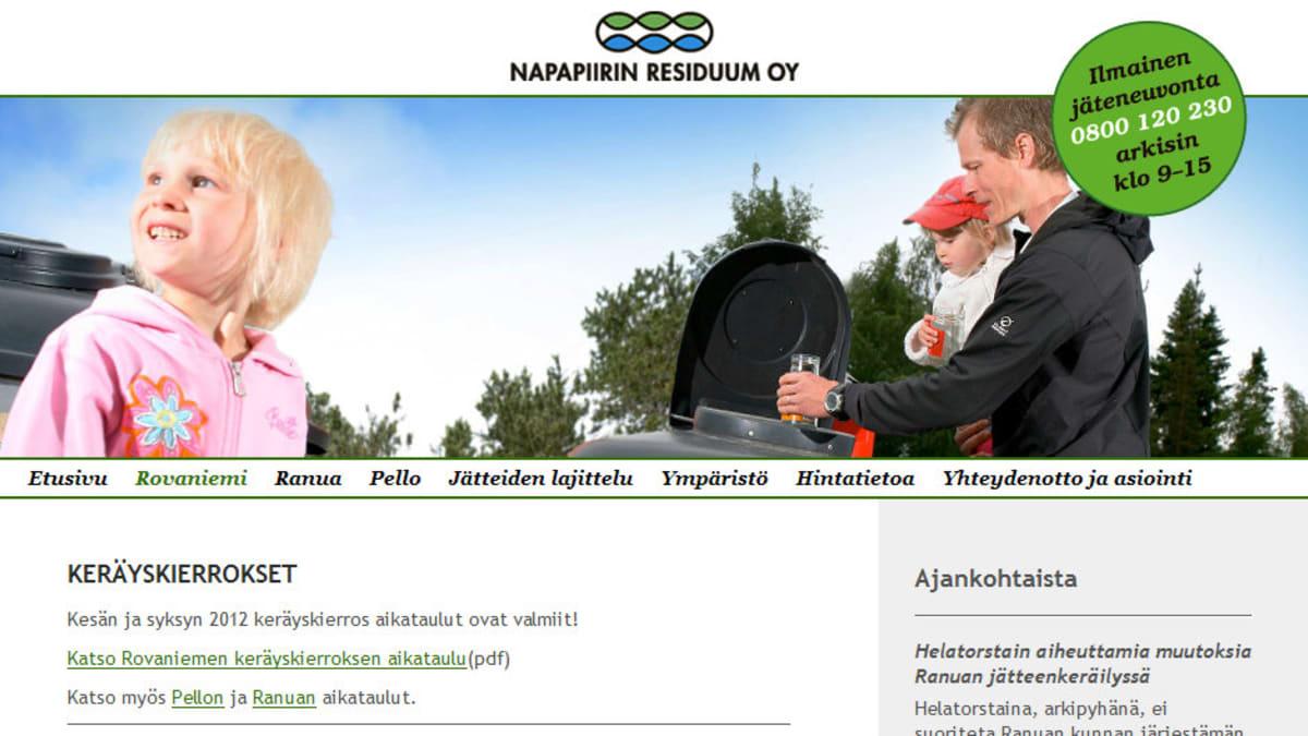 Rovaniemen Residuumin internetsivu