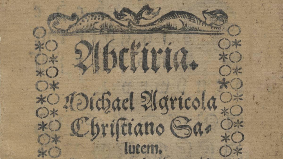 Yksityiskohta Mikael Agricolan Abckiriasta (1543).