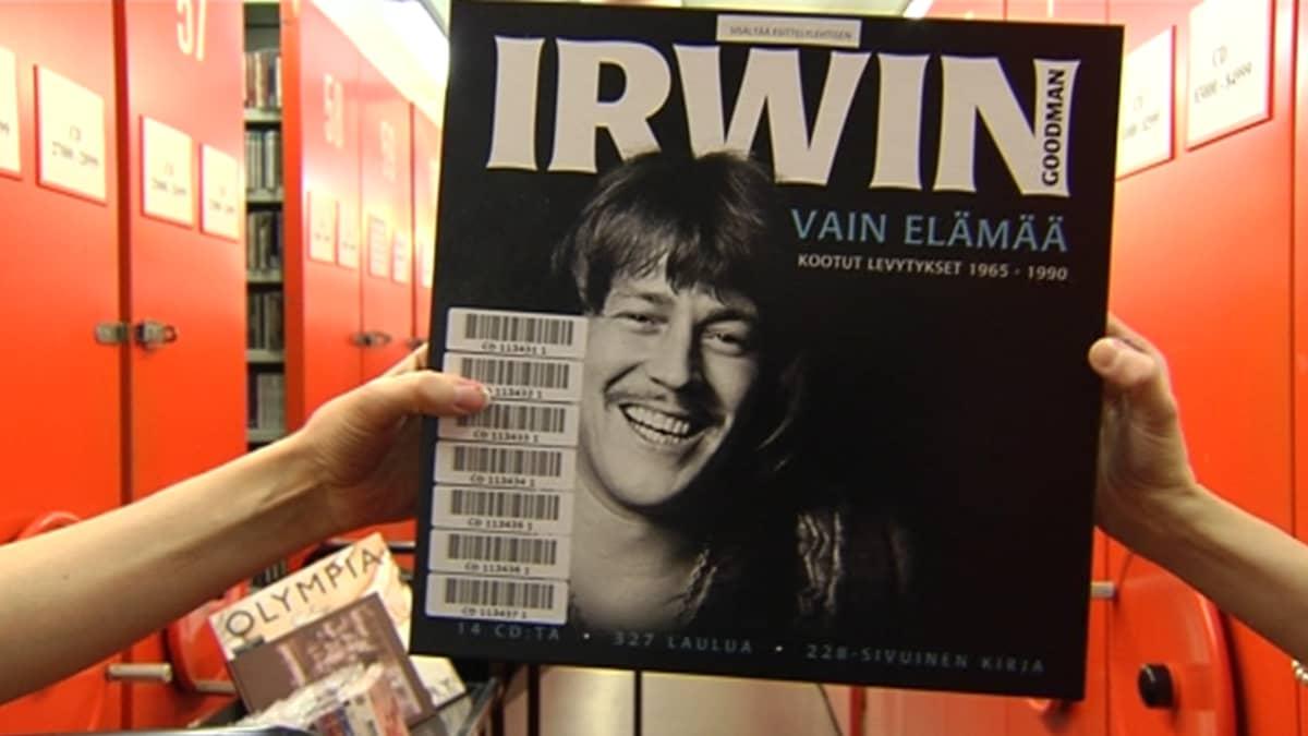 Irwin Goodmanin kokoelmalevy YLE:n arkistossa.