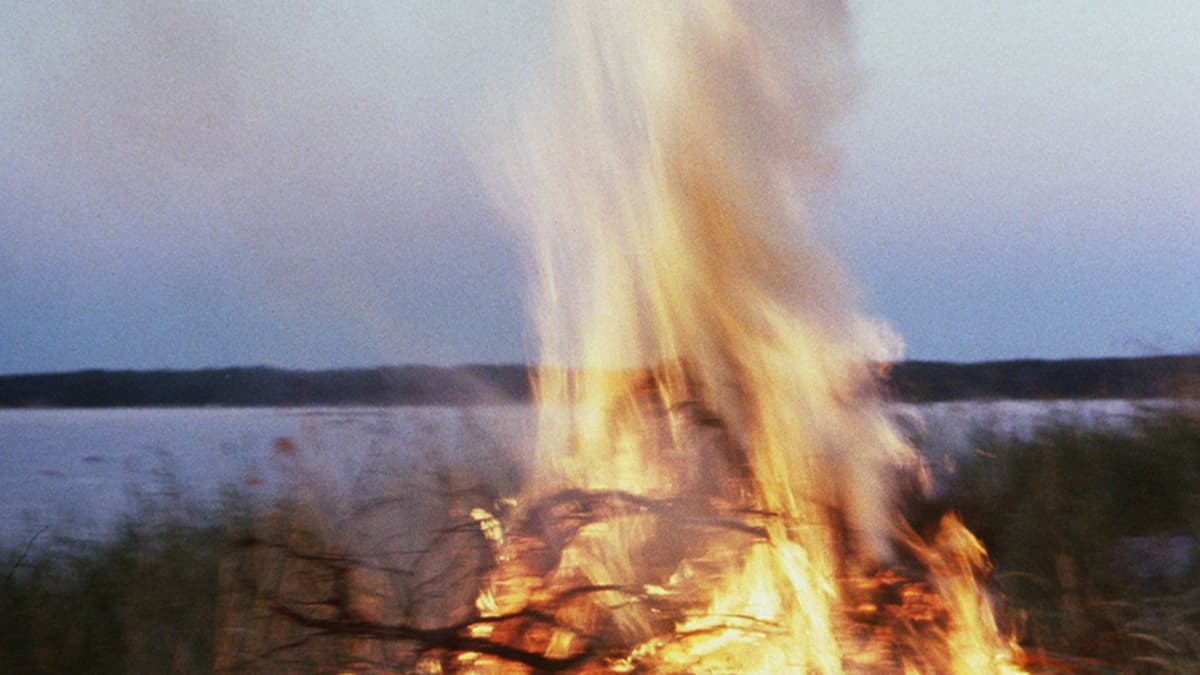 Midsummer bonfire.